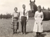 Euphemia, Isabelle & Bill with Horse
