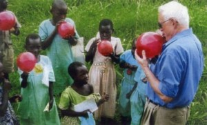 Ralph with Ethiopian Children